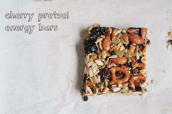 Cherry Pretzel Energy Bars