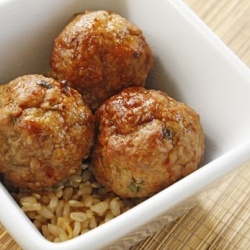Asian Turkey Meatballs with Lime Sesame Dipping Sauce. Low in fat ...