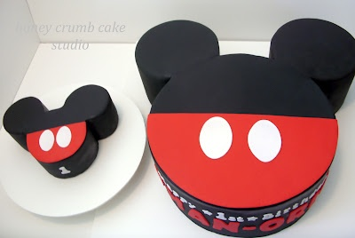 Mickey Cake and smash cake for  a First Birthday Party!