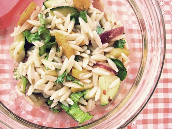zucchini and orzo salad | get in muh belly | Pinterest