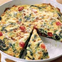 Herb and Feta Frittata Packed with fresh herbs, this frittata is ...