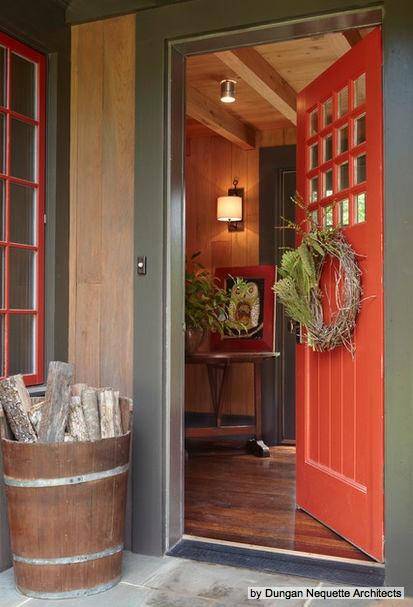 Burnt Orange Door For The Home Pinterest