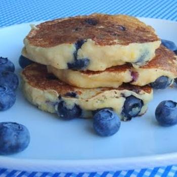 Whole Wheat Blueberry Lemon Ricotta Pancakes