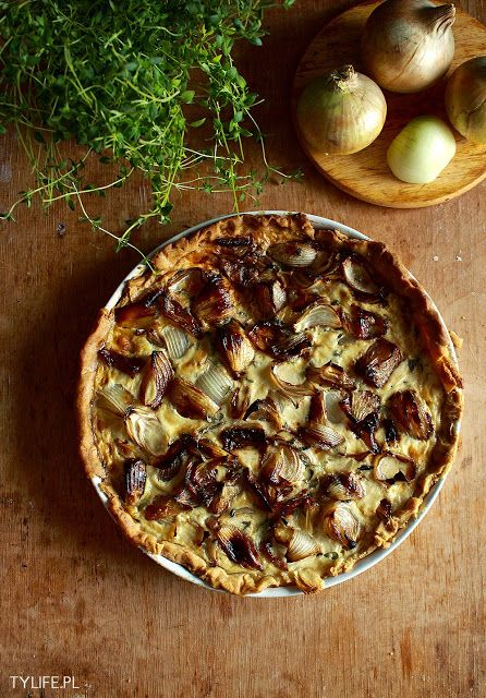 ... thyme tart onion tart slice tf caramelized onion thyme tart aerial jpg