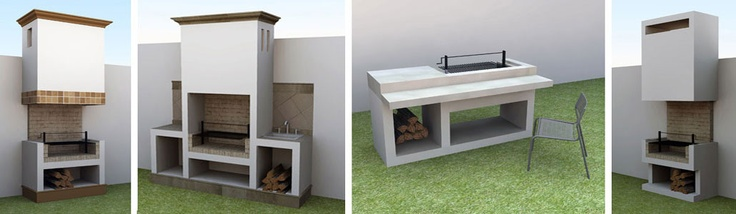 Pin by construyetuasador on for the home pinterest for Asadores de ladrillo para jardin