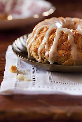 ... » Blog Archive » Doughnut Tea Cake with Rhubarb Orange Compote