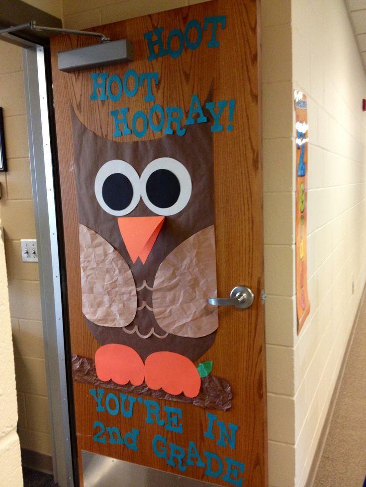 Classroom Door Decoration Ideas For Red Ribbon Week : Owl classroom door first day of