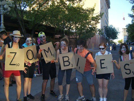 57 creative homemade group costume ideas for Diy scrabble costume