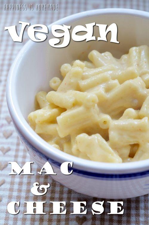 Vegan Mac & Cheese   Happiness is homemade (FOOD BLOG)   Pinterest