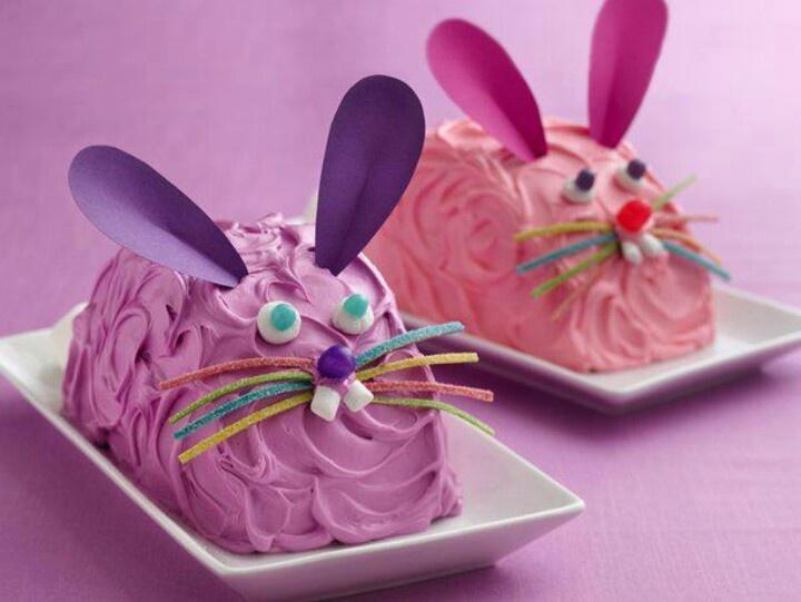 Easy bunny cakes | Easter | Pinterest