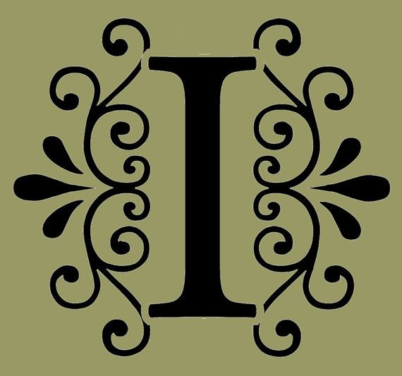 STENCIL Decorative Letter I 10x9 by ArtisticStencils on Etsy, $16.00