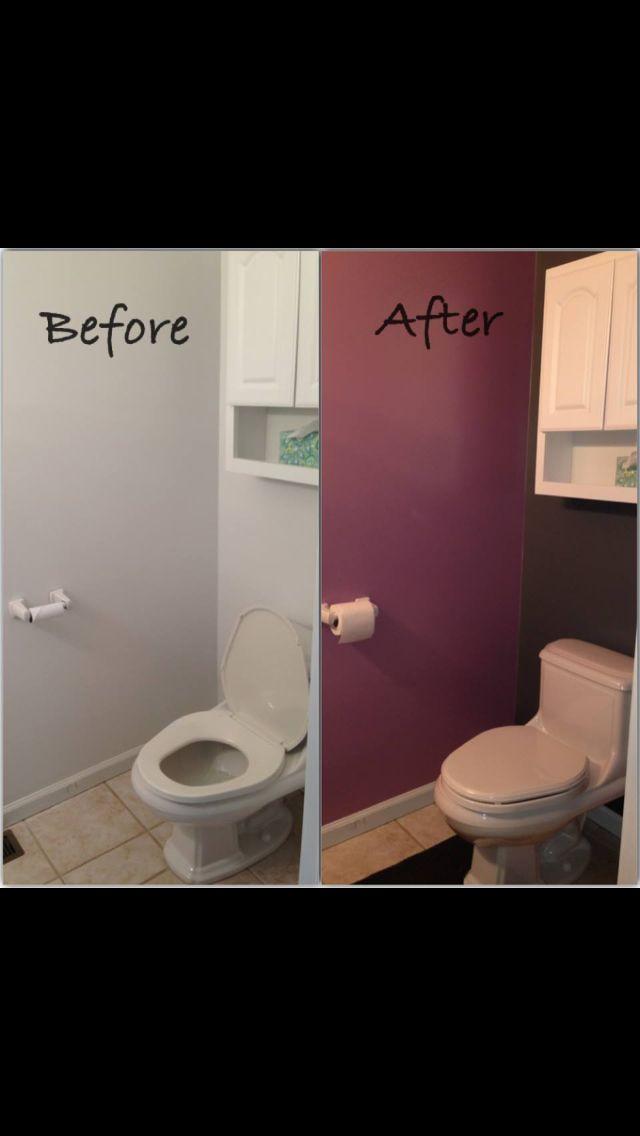 Small bathroom accent wall wall work pinterest for Bathroom accent wall