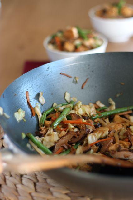 Tofu and Shiitake Stir-Fry with Vegetables