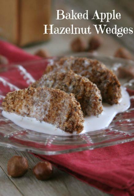 Baked Apple Hazelnut Wedges [Healthy] | Food Stuff | Pinterest