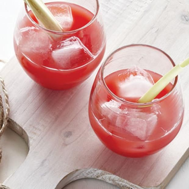 Watermelon Juice With Ginger And Lemongrass Recipe — Dishmaps
