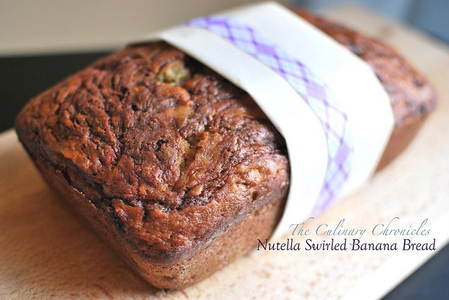 Nutella Swirled Banana Bread by The Culinary Chronicles, via Flickr