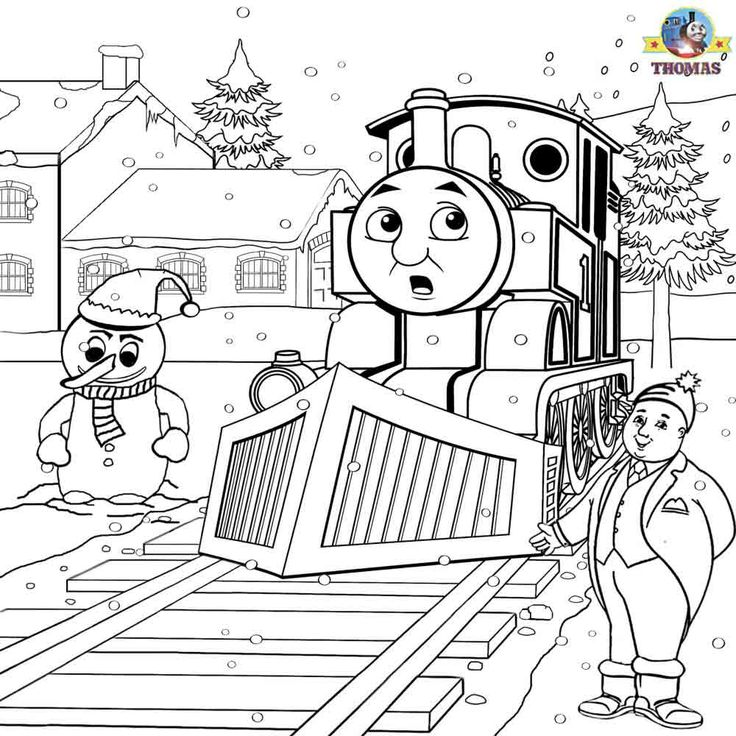 Thomas Christmas Coloring Page Crafts For Boys Pinterest