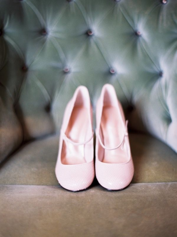Pretty pink bridal shoes