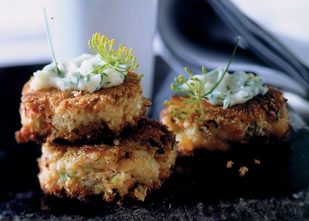 Mini Crab Cakes with Lemon-Dill Aioli | Recipes | Pinterest