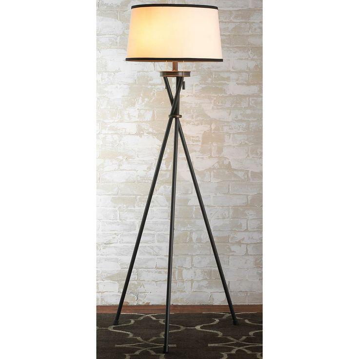 Modern tripod floor lamp 2 finishes lighting pinterest for Photographer s tripod floor lamp bronze finish