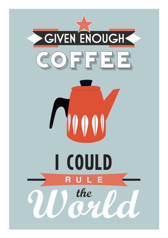 Coffee Print Coffee Poster Kitchen Wall Art Coffee Decor Cathrine