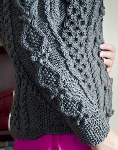 Ruth aran cardigan (Ethnic Knitting Adventures): Knitty Winter 2012