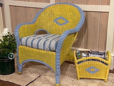 painted wicker furniture - Google Search  DIY  Pinterest