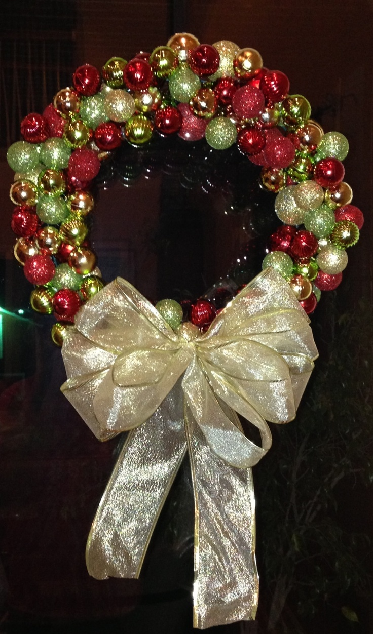 Handmade Christmas wreath cheap and easy | DIY & Crafts that I love ...