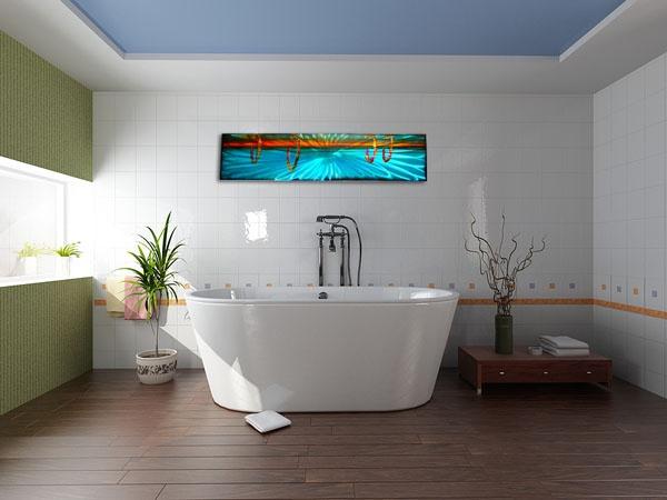 Metal Wall Art For A Bathroom : Bathroom metal wall art