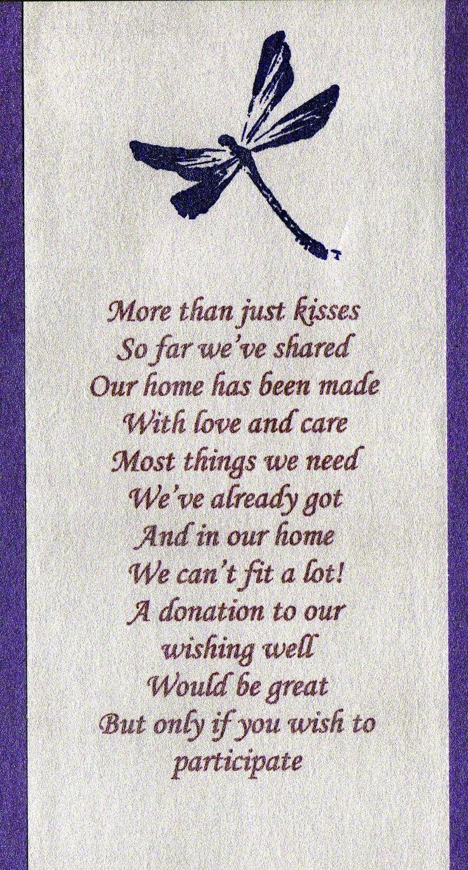 wedding money tree wording | Wishing Well Poem Wording.