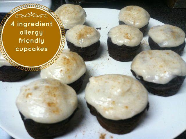 Chocolate Pumpkin Cupcakes gluten free egg free dairy free peanut free ...