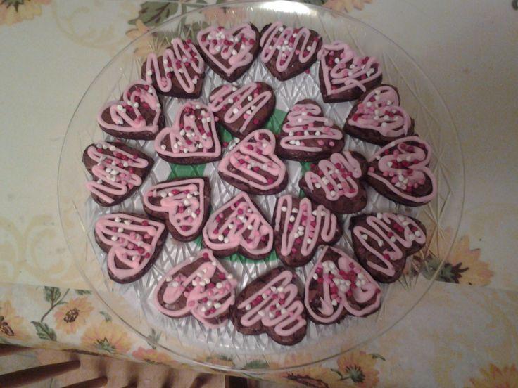 valentine's day brownie cookies