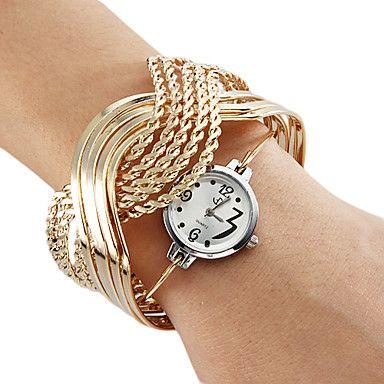 EUR € 6.43 - Steel analogique bracelet montre femme quartz (or), livraison gratuite pour tout gadget!
