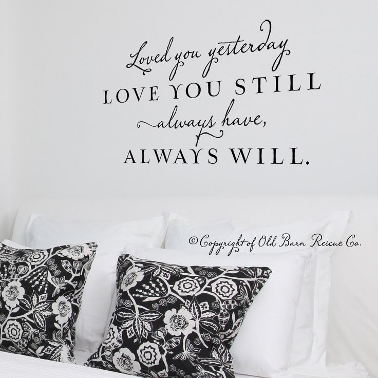 Adesivo de parede de vinil... super romântico para o quarto do casal!!! :) #vinyl #lettering