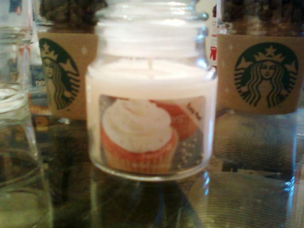 Diy starbucks coffee candles