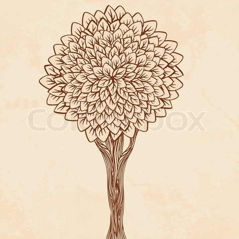 Stock vector of 'Vintage illustration of a tree'