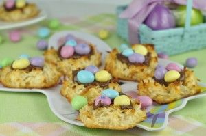 Coconut Macaroon Nutella Easter Nests (3)