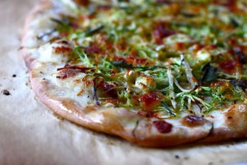 Zucchini & Enoki Mushroom Pizza | Yummy Stuff! | Pinterest