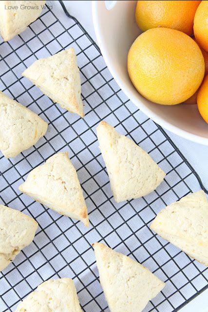 Glazed Orange Scones - a delicious treat filled with orange zest and ...