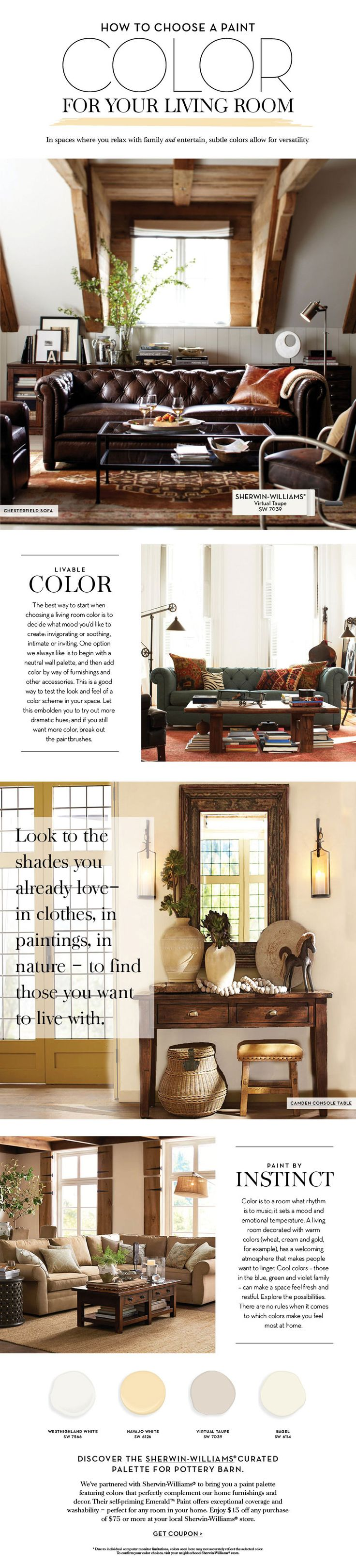 Choose a Paint Color For Your Living Room | Pottery Barn