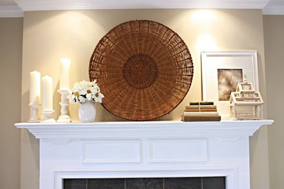 Mantel decor idea