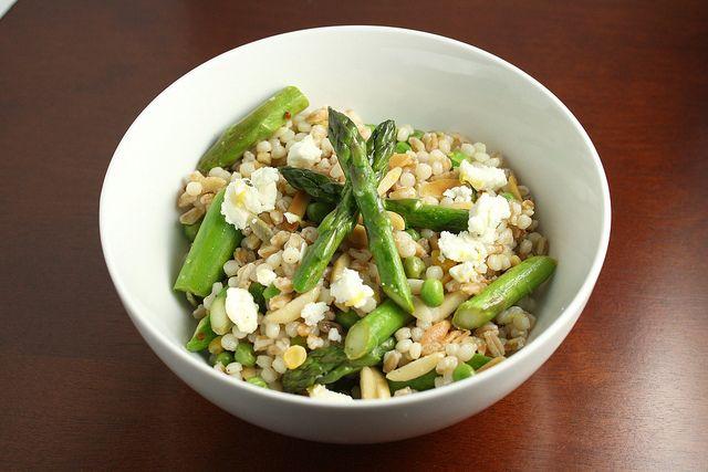High fibre meals: Lemon Scented Grain Salad with Asparagus, Almonds ...