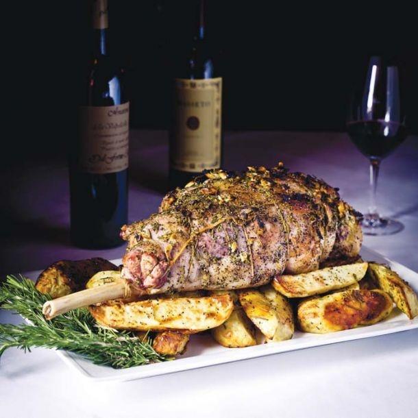 herbs crown roast of lamb with fresh herbs recipe food republic crown ...