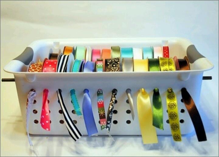 Ribbon Dispenser Storage Creative Organization Pinterest