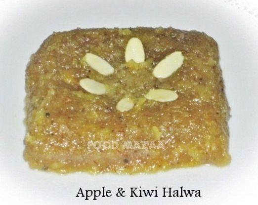 Food Mazaa: APPLE & KIWI HALWA Very simple and easy dessert..