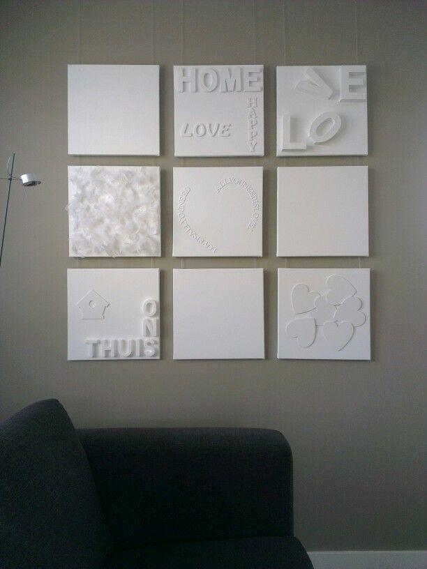 muurdecoratie woonkamer zelf maken ~ lactate for ., Deco ideeën