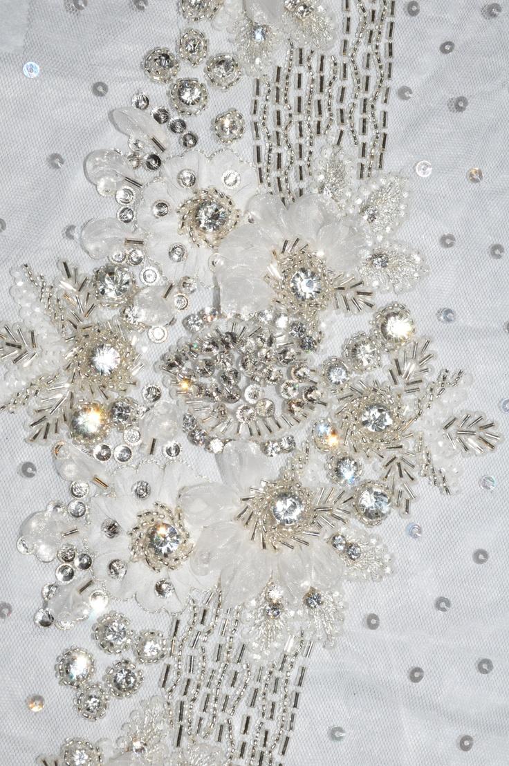 Bridal beaded fabric beach wedding pinterest for Bridal fabric