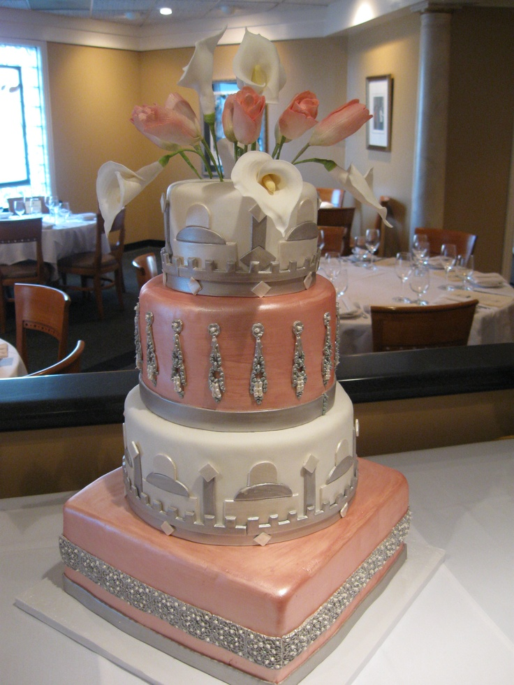 Art Deco Grooms Cake : Art Deco Inspired Cake.