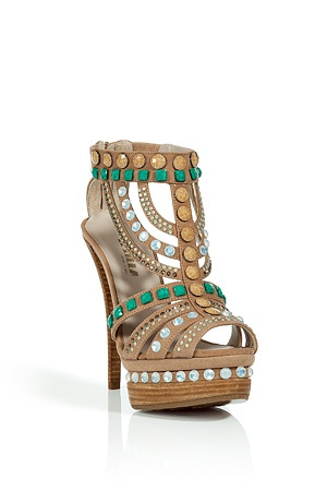 Sometimes more is more! TheseTan and Emerald Crystal Embellished
