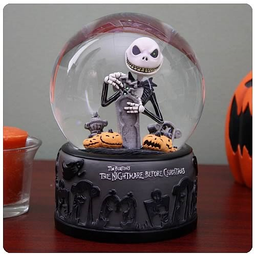 Nightmare Before Christmas Graveyard Jack Water Ball Snow Globe NIB D ...